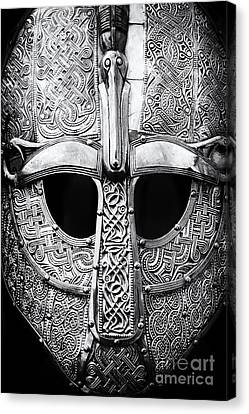 Anglo Saxon Helmet Canvas Print by Tim Gainey