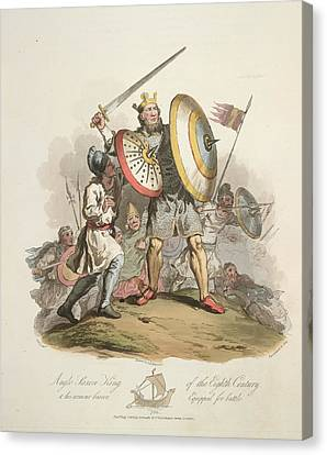 Anglo-saxon King Canvas Print by British Library