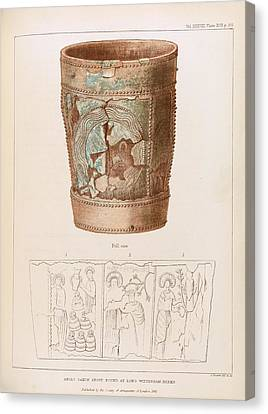 Anglo-saxon Stoup Canvas Print by Middle Temple Library
