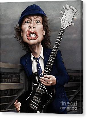 Angus Young Canvas Print by Andre Koekemoer