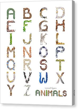 Animal Alphabet Canvas Print by Leonard Filgate