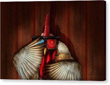Animal - Chicken - Movie Night  Canvas Print by Mike Savad