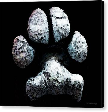 Animal Lovers - South Paw Canvas Print by Sharon Cummings