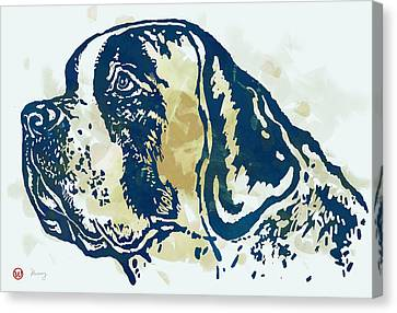 Animal Pop Art Etching Poster - Dog - 3 Canvas Print by Kim Wang