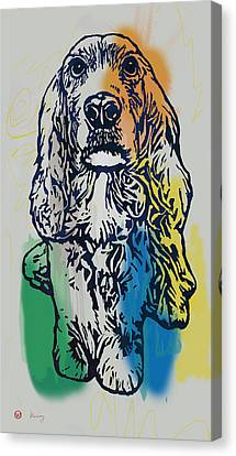 Animal Pop Art Etching Poster - Dog - 8 Canvas Print by Kim Wang