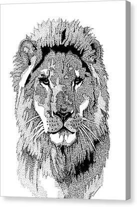 Animal Prints - Proud Lion - By Sharon Cummings Canvas Print by Sharon Cummings