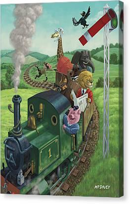 Animal Train Journey Canvas Print by Martin Davey