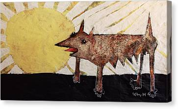 Animalia Canis Et Sol  Canvas Print by Mark M  Mellon