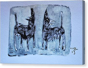 Animalia Canis No. 1 Canvas Print by Mark M  Mellon