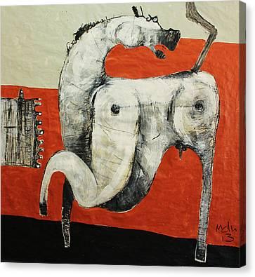Animalia  Equos No 3 Canvas Print by Mark M  Mellon