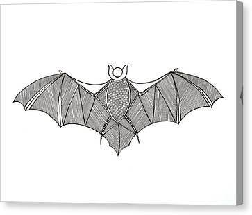 Animals Bat Canvas Print by Neeti Goswami