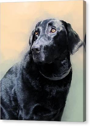 animals - dogs- Loyal Friend Canvas Print by Ann Powell