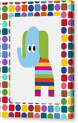 Animals Whimsical 8 Canvas Print by Angelina Vick
