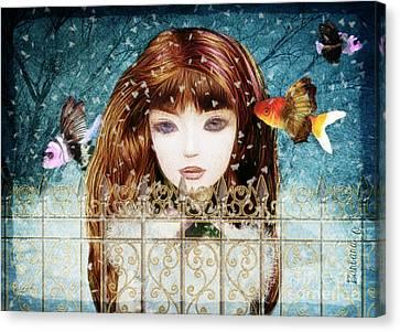 Aniolina Felicslawa Canvas Print by Barbara Orenya