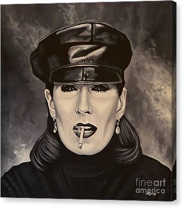 Anjelica Huston Canvas Print by Paul Meijering