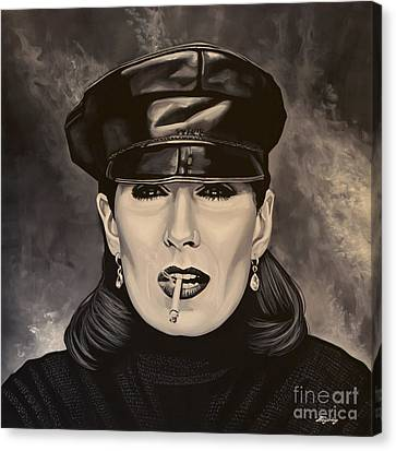 Anjelica Huston Canvas Print by Paul Meijering