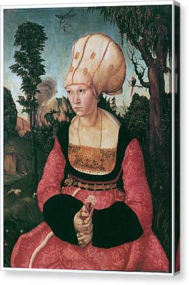 Anna Putsch First Wife Of Johannes Cuspinian Canvas Print by Lucas Cranach the Elder