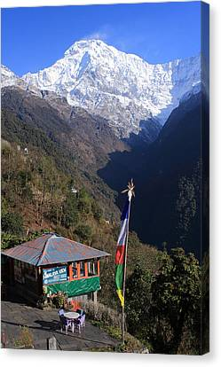 Annapurna South - Himalayas - Nepal Canvas Print by Aidan Moran