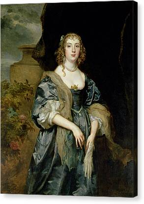 Anne Carr, Countess Of Bedford, C.1638 Canvas Print by Sir Anthony van Dyck