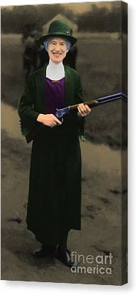 Annie Oakley 20130514 Long Canvas Print by Wingsdomain Art and Photography
