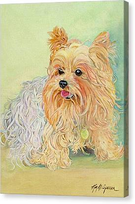 Annie's Yorkie Canvas Print by Kimberly McSparran