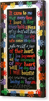 Anonymous Dog Lover Canvas Print by Yvonne  Kroupa