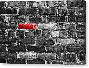 Another Brick In The Wall Canvas Print by Delphimages Photo Creations