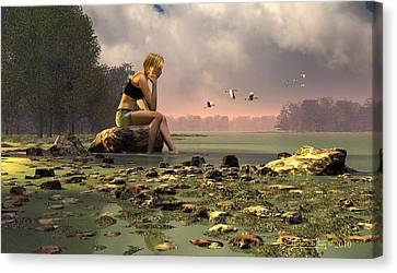 Another Day Canvas Print by Dieter Carlton