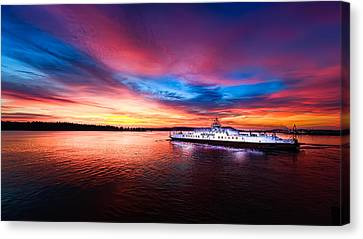 Another View Of A Great Sunrise Canvas Print by Mike Thompson