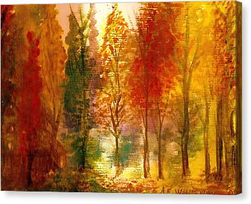 Another View Of Autumn Hideaway Canvas Print by Anne-Elizabeth Whiteway