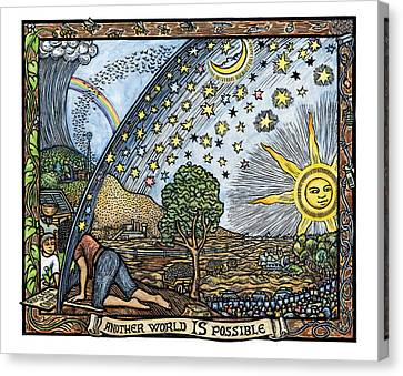 Another World Is Possible Canvas Print by Ricardo Levins Morales