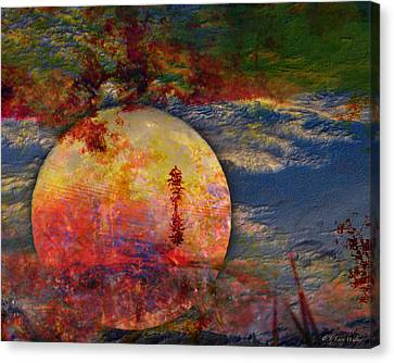 Another World Moon Abstract Canvas Print by J Larry Walker