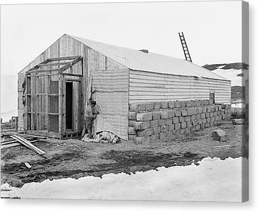 Antarctic Base Camp Construction Canvas Print by Scott Polar Research Institute