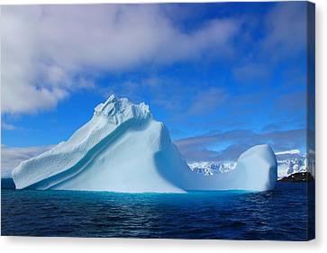 Antarctic Iceberg Canvas Print by FireFlux Studios