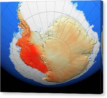 Antarctic Warming Trend Canvas Print by Nasa/goddard Space Flight Center Scientific Visualization Studio