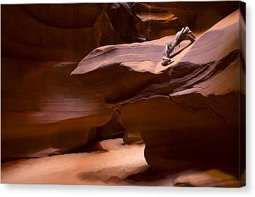 Colorado River Canvas Print featuring the photograph Antelope Canyon Hike by Michael J Bauer