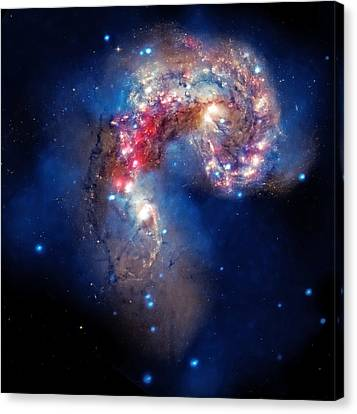 Antennae Galaxies Collide 2 Canvas Print by The  Vault - Jennifer Rondinelli Reilly