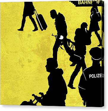 Anti-terrorism Police Canvas Print by Smetek