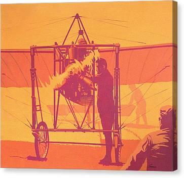 Antique Bleriot Airplane  Canvas Print by John Samsen