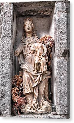 Antique Blessed Virgin Statue Canvas Print by Olivier Le Queinec