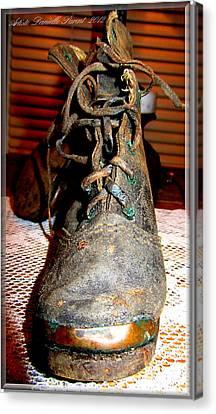 Antique Boots Canvas Print by Danielle  Parent