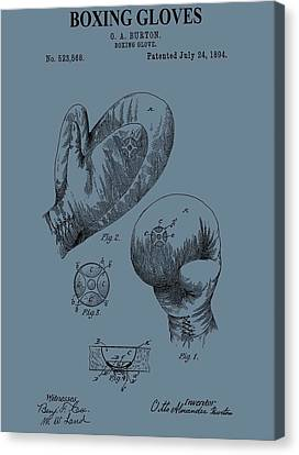 Antique Boxing Gloves Patent Canvas Print by Dan Sproul