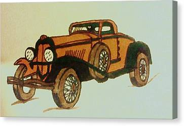Antique Car Canvas Print by Christy Saunders Church