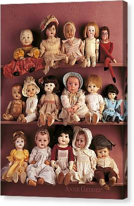 Antique Dolls Canvas Print by Anne Geddes