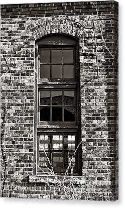 Antique Factory Window Canvas Print by Olivier Le Queinec