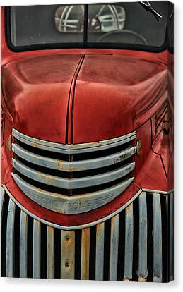 Antique Fire Engine Canvas Print by Karol Livote