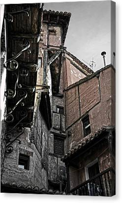 Antique Ironwork Wood And Rustic Walls Canvas Print by RicardMN Photography