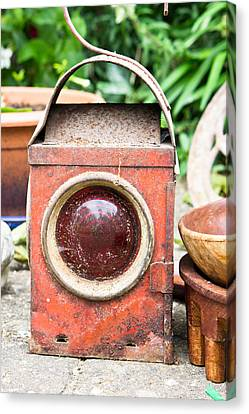 Antique Lantern Canvas Print by Tom Gowanlock