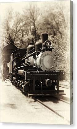 Antique Locomotive Canvas Print by Jane Rix
