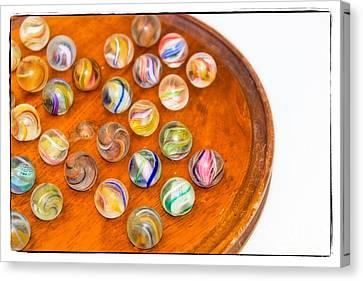 Antique Marbles - Vintage Toys Canvas Print by Colleen Kammerer